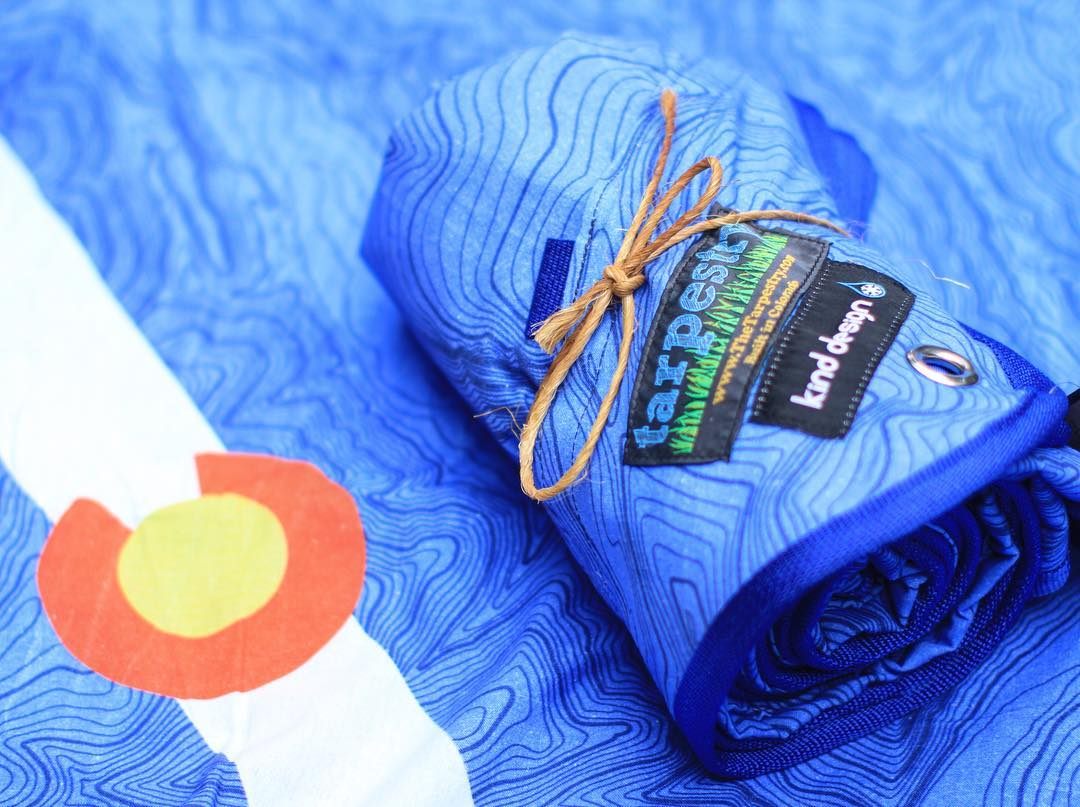 We are very happy to announce the launch of our first collaboration with @tarpestry - and they are MADE IN COLORADO!  The Tarpestry is a soft and durable weather-resistant outdoor blanket that puts a layer between you and nature, with style.  Now...