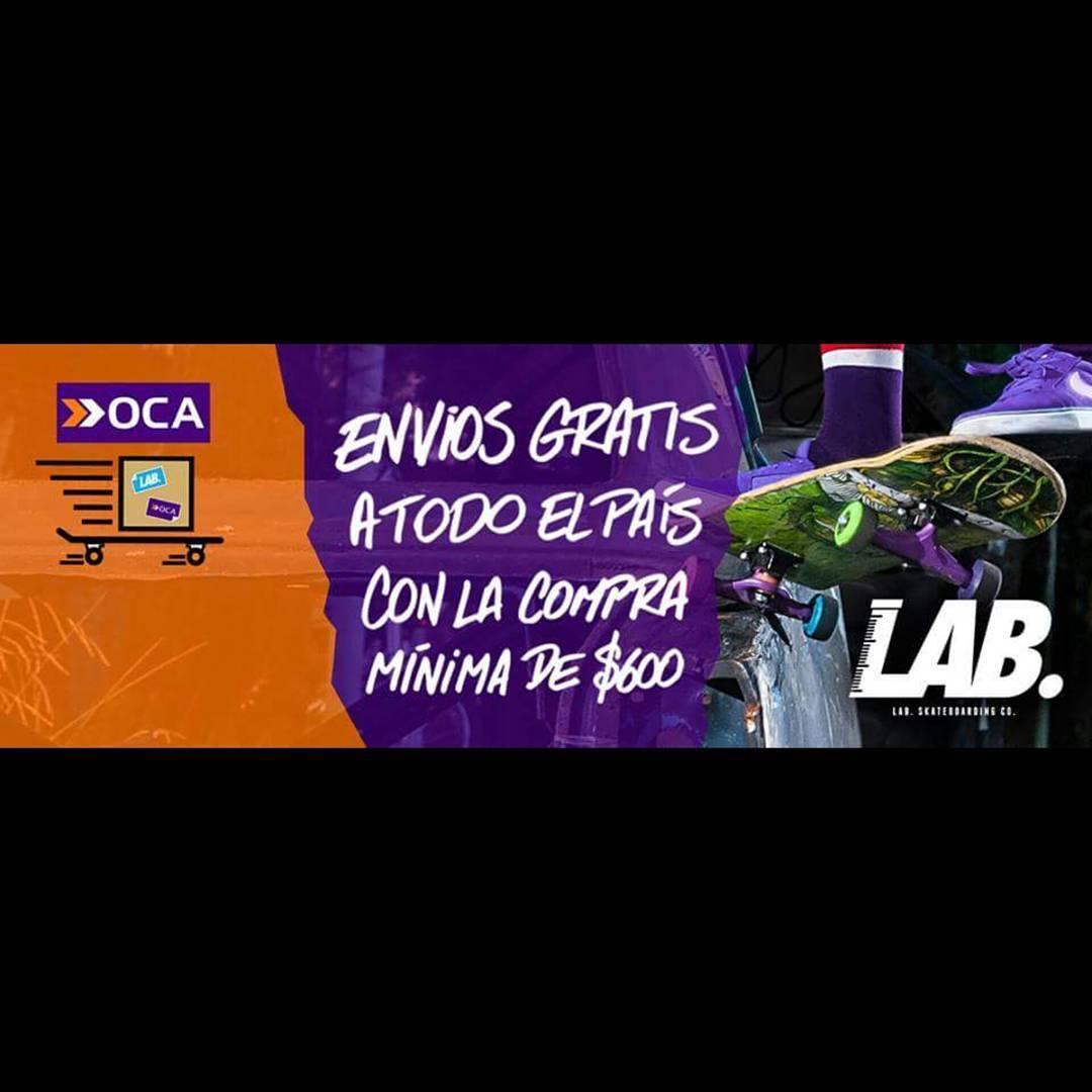 Chicos una oferta imperdible envíos gratis a todo el país, por compras de 600 pesos o más. No te la pierdas y entra a www.labskateboarding.com. #labskateboards