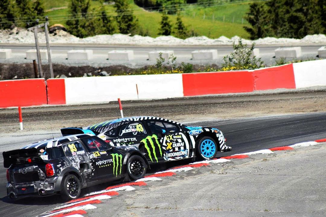 Battling it out in Norway with @kblock43 before I flattened the roof when it all went Pete Tong.