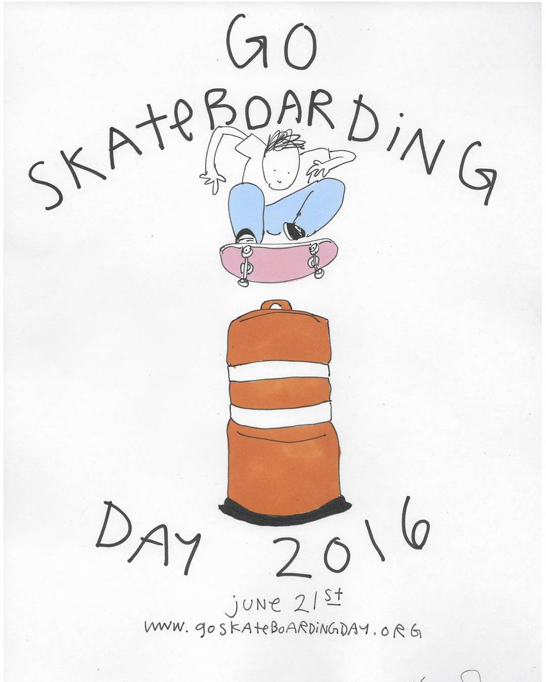 Happy Go Skateboarding Day!!! Get outside and enjoy the sun on that wheelie board of yours!!! Art: Henry Jones  #LoadedBoards #GoSkateboardingDay