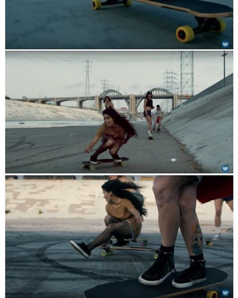 We know you all know but we're still so excited about it!  Go to longboardgirlscrew.com to check our friends & shred sisters @pandaskate, @carmen_sutra & @amandapowellskate star in the new @chilipeppers video directed by @oliviawilde.  Is everybody as...