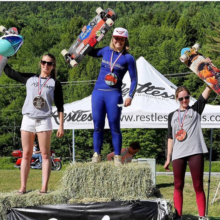 What a race! @idfracing's Killington Women's Podium: 1. @emilylongboards  2. @cassandraduchesne  3. @palaxa  4. @candybombing  Emily pushed it hard all weekend long and finished 7th overall in Open and 1st in Women. This is what we're talking about.