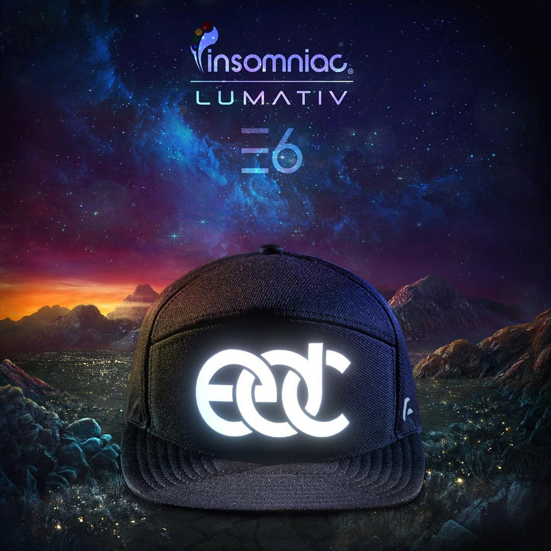 EDC is almost here! Be on the lookout for the #Lumativ #E6 @edc_lasvegas collaboration. #StayHydrated #EDCLV #EDC20 #snapback #wearabletech #illuminatedsnapback #hats #nightlife