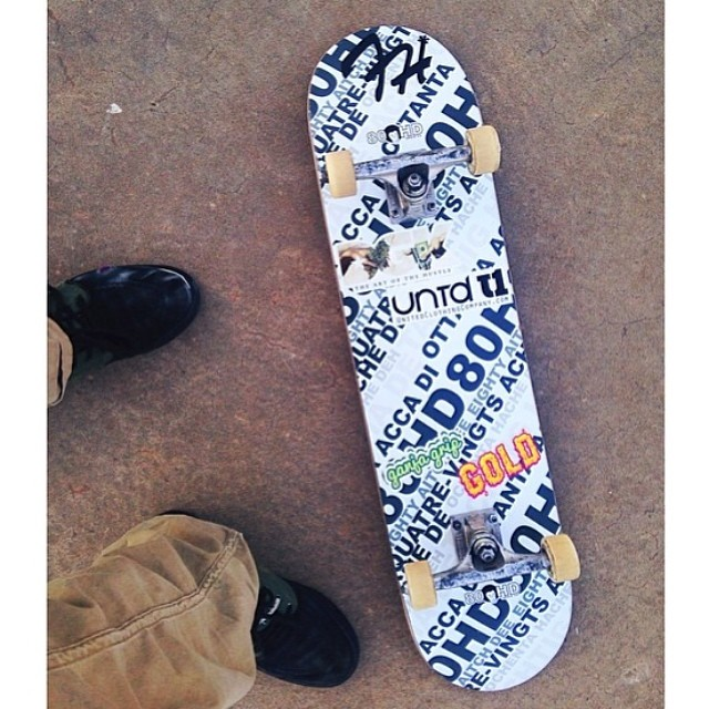 Team rider from #northcarolina @drredrizzy's photo of one of Diecuts. #stickers #skateboarding #frostyheadwear #metrogrammed