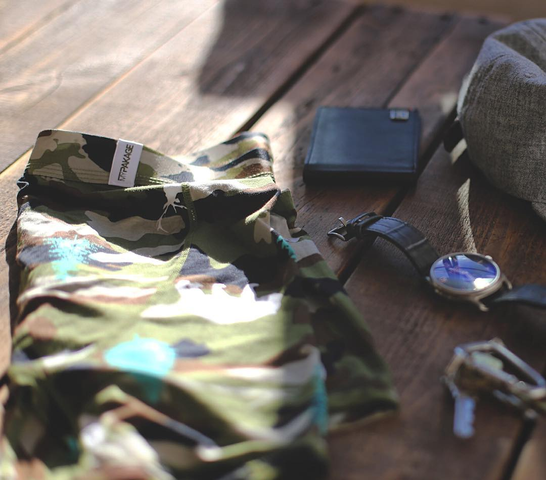 Your daily essentials for comfort and style. The Weekday boxer-brief in wilderness camo. #MyPakage #essentials