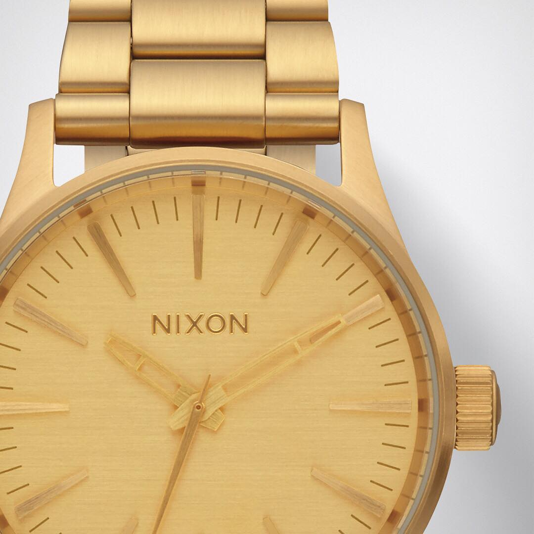 Understated size, stand out style. The #Sentry SS in all-gold. Available now. #Nixon