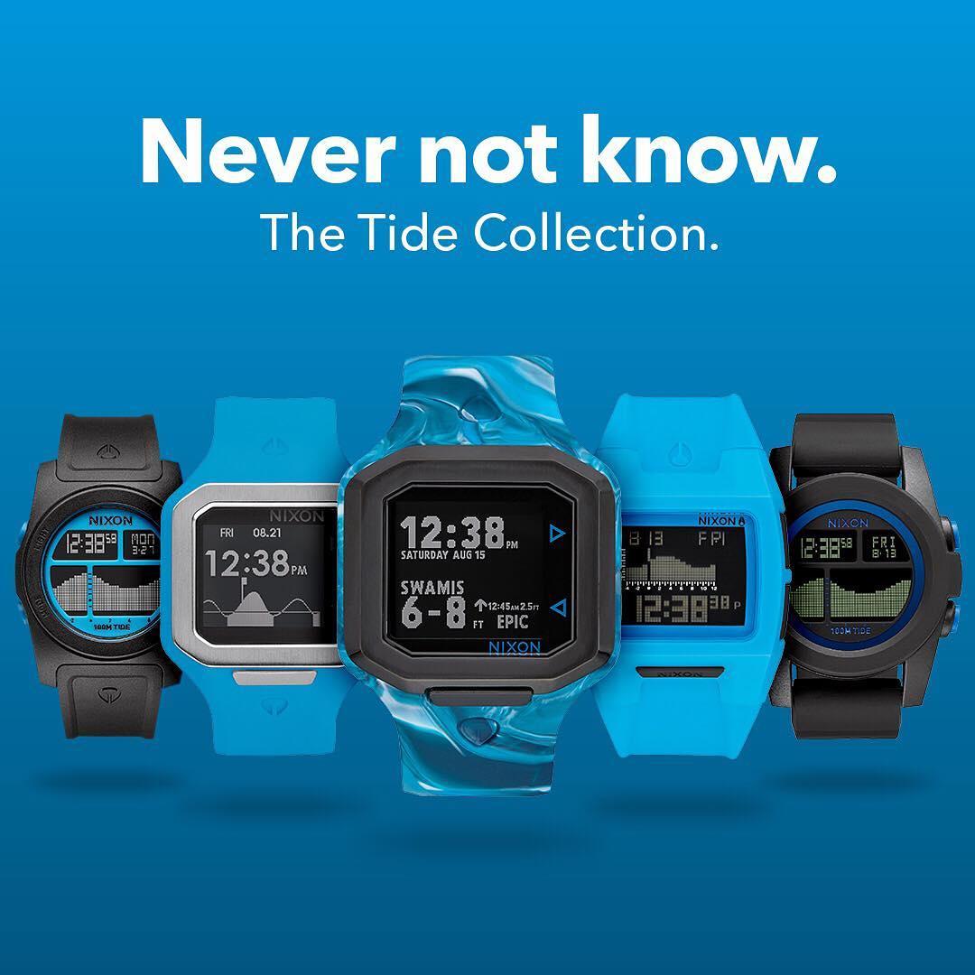 Legit time telling meets legit tide telling. The #Tide collection goes digital. #UltraTide #Lodown #UnitTide #Nixon