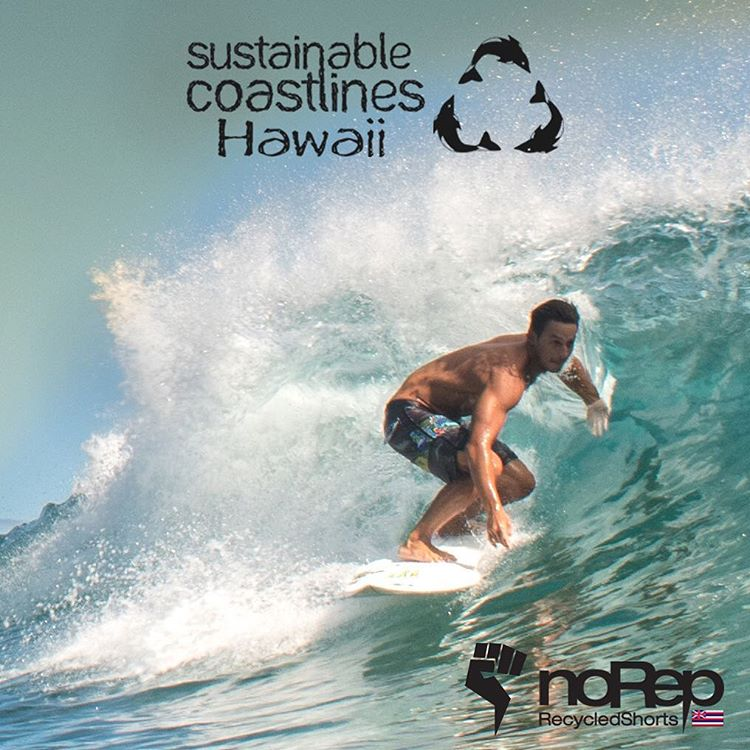 This weekend: noRep x @sustainablecoastlineshawaii. We're so lucky that we got to work with @sustainablecoastlineshawaii for our newest collaboration, which also happens to be our first shorts made from recycled materials! We can't wait for you guys to...