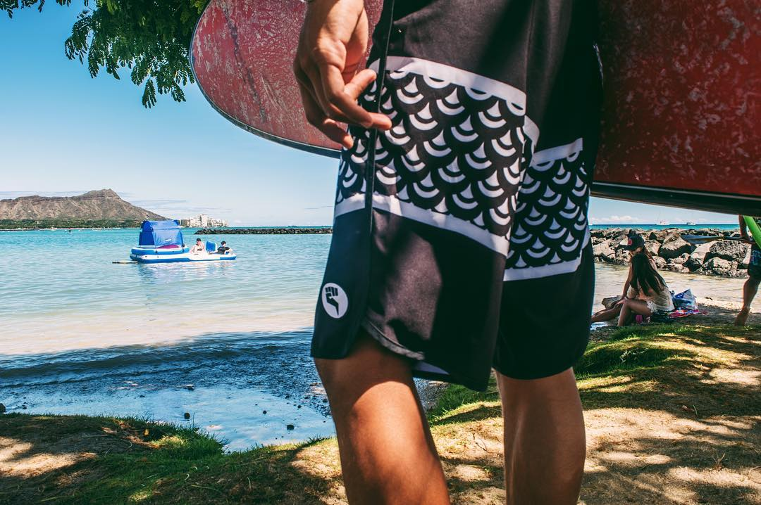 Coming soon... the Scales boardshorts, designed by @ezrarod. Summer is just beginning! | Photo: @b_mattie @scaryblanket  #inspiredboardshorts