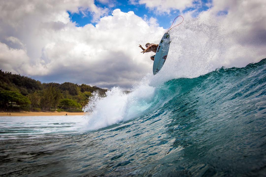 Staying high with Team Rider @kainoahaas #inspiredboardshorts | PC: @instaclamfunk