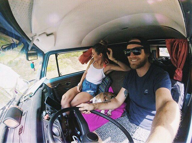 @lettii_meow living up the #vanlife and cruising along with her #NYNEcruiser. #LifeSoundsGood #bluetoothspeaker #VWbus #roadtrip #crusing #livefreely