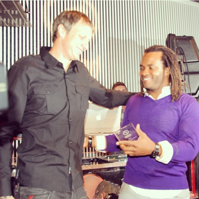 Throwback Thursday: STOKED Awards 2008, here's co-founder @salmasekela presenting @tonyhawk with The Stoked Achievement Award. #awesomepeople #skatelegend #dreambig #stoked #tbt
