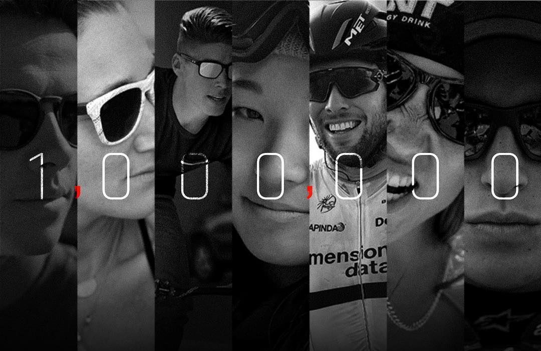 1,000,000 followers.  Thank you all for being a part of #TeamOakley. We couldn't have done it without you.