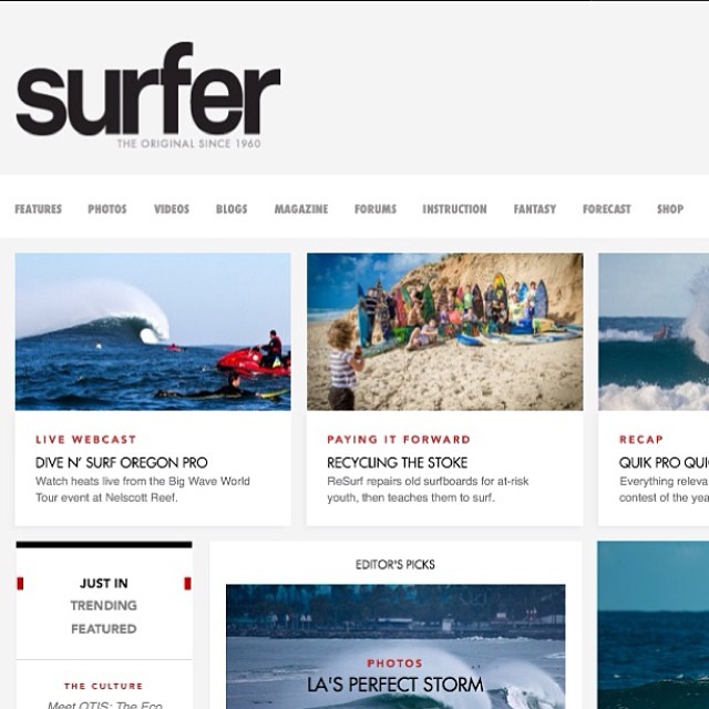 ReSurf on the cover of SURFER Magazine ! Check it out @ http://www.surfermag.com/features/resurf/