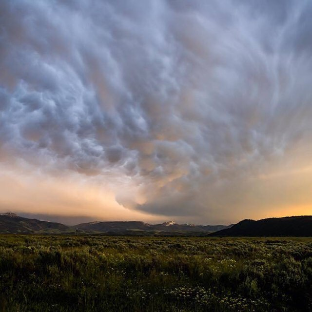 It's that time of year when the storms are a-rollin' in. Photo by PD customer @jason_j_hatfield of a sunset storm over the flats of Grand Teton National Park. #findyourpeak