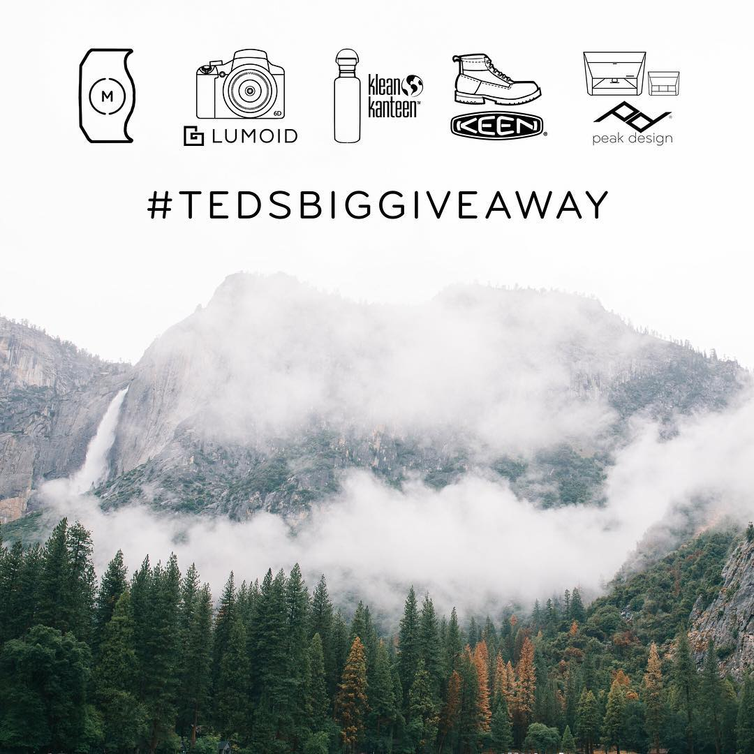 Win $3K in adventure gear from some of our favorite brands. How? Ted will tell you. Get the details from @eye.c. #tedsbiggiveaway #findyourpeak