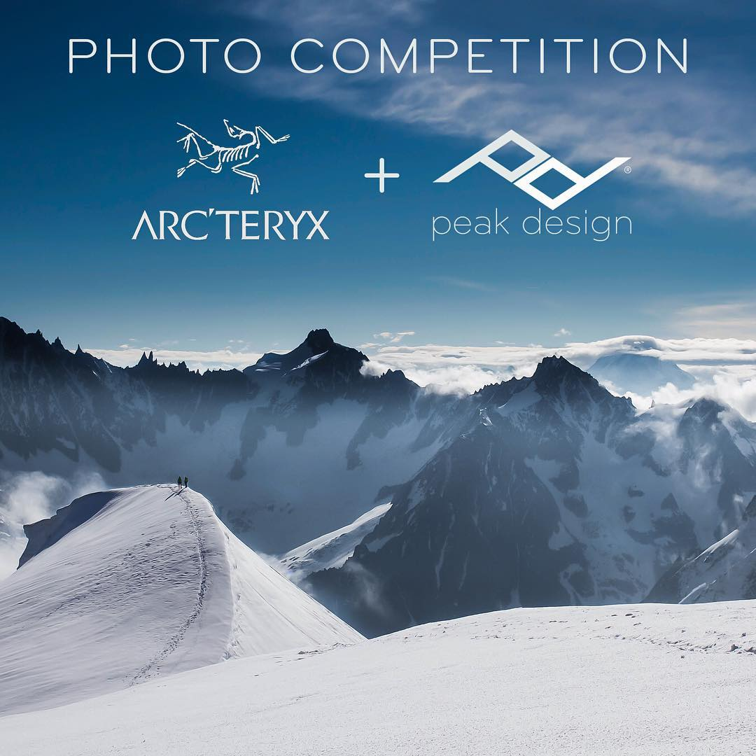 Arc'teryx + Peak Design Mountain Photo Contest  Share your best mountain moment for a chance to win a gorgeous bundle of gear from Arc'teryx and Peak Design! Over $1500 in prizes to give away to 3 winners, who will be chosen based on creativity,...