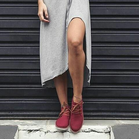 Borgoña color preferido de invierno #Walkerboot #perkyshoesar #boots #invierno #winter #style #diseño