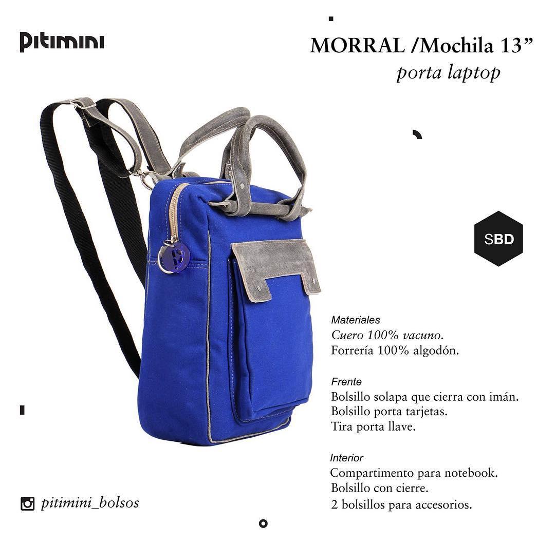 #morral #mochila #hechoamano #portanotebook  #diseño #design #bagpack #sellobuendiseño #industriaargentina #trabajojusto #Pitimini venta on line tienda.pitimini.com.ar