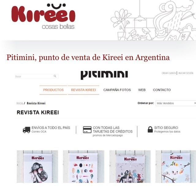 #Kireei & #Pitimini un solo corazón!! Felices de anunciarles que desde hoy vendemos @kireeimagazine en Argentina! A través de nuestra tienda on line! Tienda.pitimini.com.ar #kireeimagazine felicidad total!!