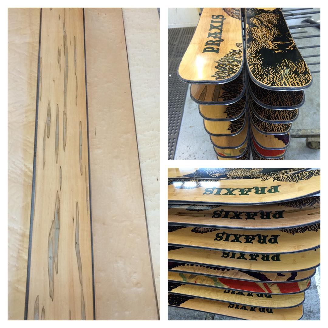 50 % off sale is over with the end of June, but you still have time to custom order! We are really loving these digitally stained  wood veneer top skis coming off the production line this summer! Thanks for supporting Praxis Skis! #digitallystained...