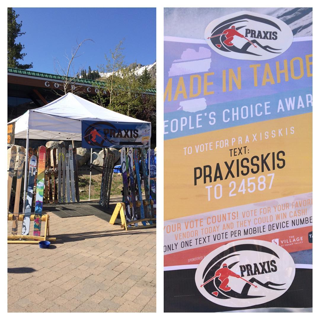 #MadeInTahoeFestival is going off! Lots of skiers for this closing Memorial Day weekend @squawalpine . Stop by our tent and say what up... And text your vote for people's choice! Praxis Skis wishes you all happy spring skiing and don't forget our...