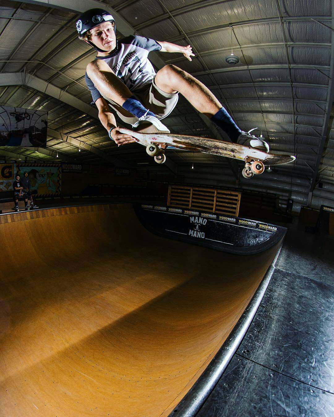 Sick shot that @flavaaadave captured of @benazelart at @woodwardwest #PredatorHelmets #SK8 #halfpipe