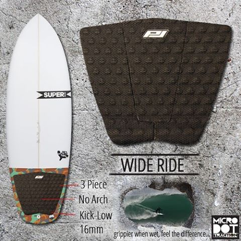 Summer is here and that for many means the season of the groveler. The Wide Ride has your summer fling covered (well, the wide tail anyway) with a wide outline to cover your tail and keep you interested the gas peddle! Available at your local surf...