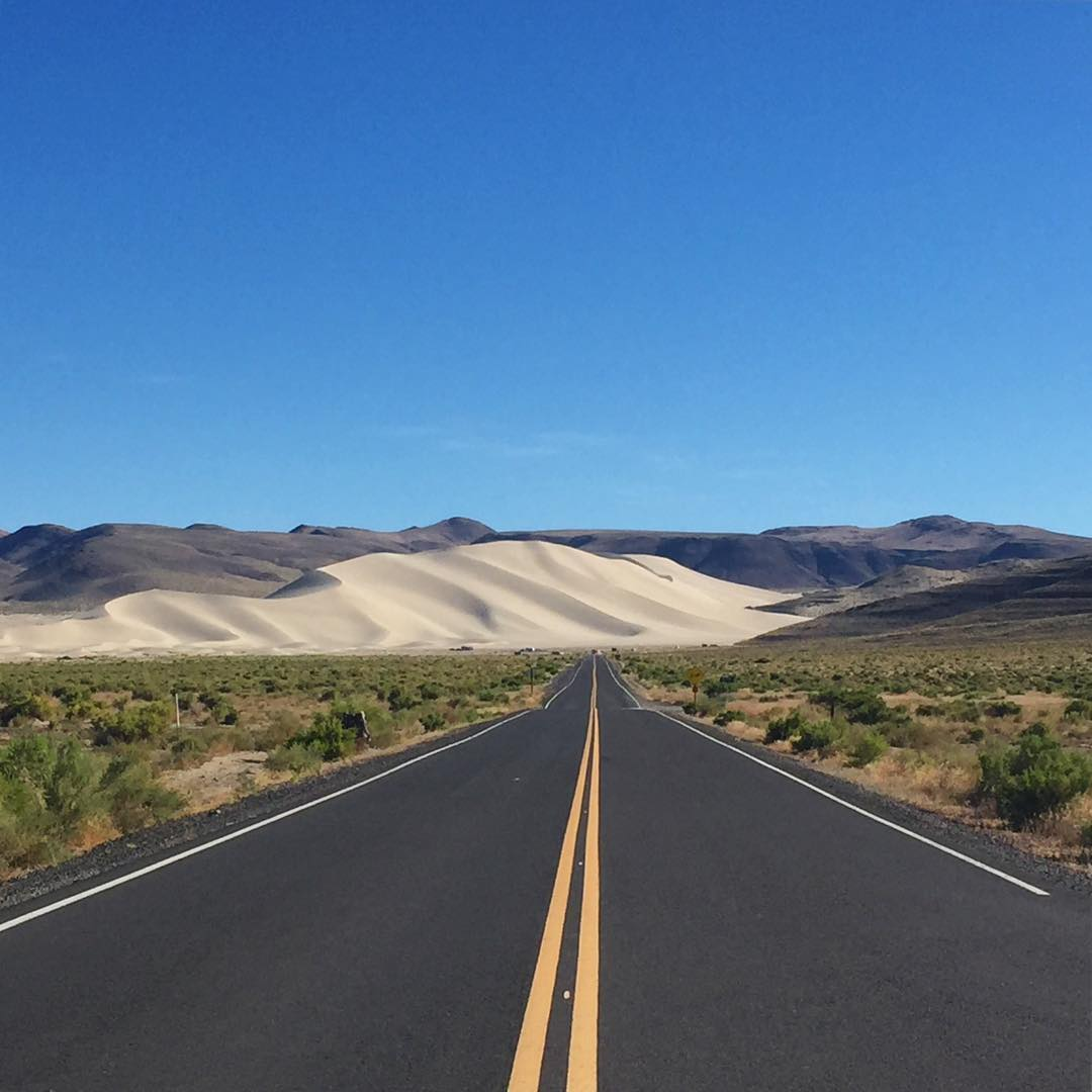 I like where this road is headed #sanddune #roadtrip #roadtrippinwithrachel