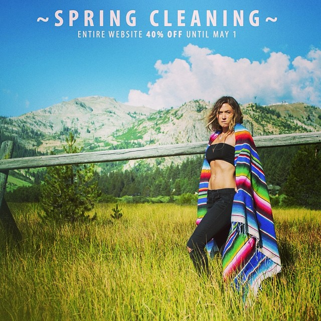 'Spring Cleaning ~ 04.24.14' Summer is around the corner and we're cleaning house. Use code FLOWER40 for 40% off all web orders until May. #tahoemade #ssssale