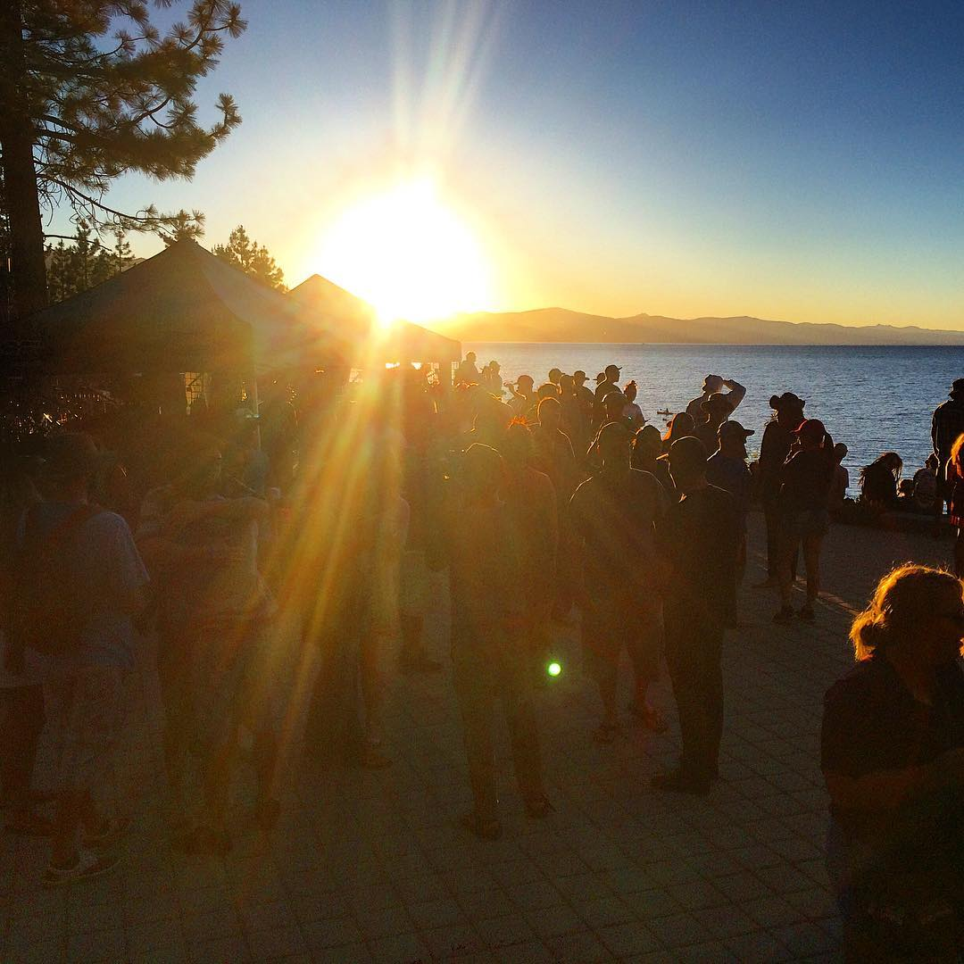 So nice to hang out on the Lake last night. Great to see so many faces. #laketahoe #risedesignstahoe #risedesigns #inspiredbynature #drivenbydesign #goldenhour #chasingsunsets