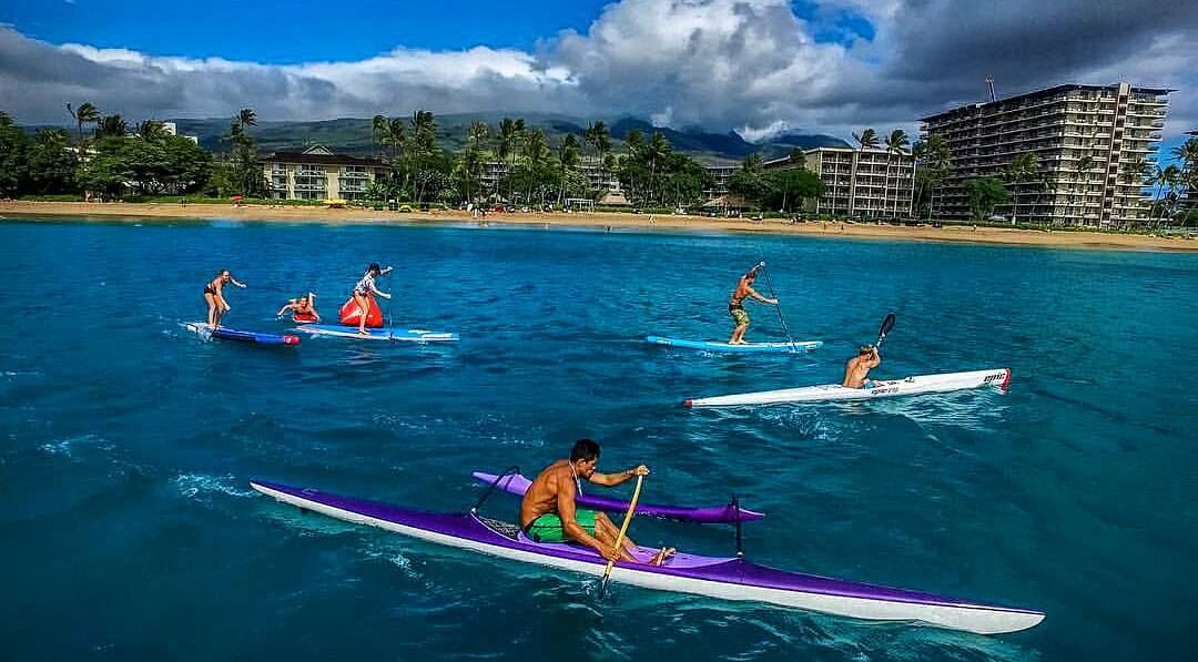 Fired up for the @officialmauijim Oceanfest tomorrow!  @joshriccio training with some friends prior to tomorrow's event where some of the best waterman and waterwomen in the world will be competing in a multitude of disciplines.