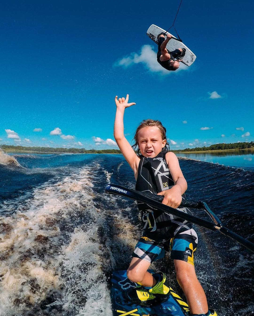 Happy Father's Day from your friends at Ronix. @darin_shapiro and his son Kien enjoying a father, son shred. Cheers! ✌