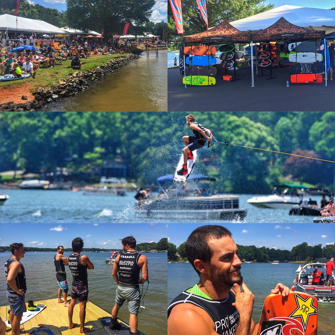 The crew at the @prowakeboardtour  at Lake Norman, NC. @deanwsmith @massipiffa @shotatezuka @tony_carroll @nicrapa