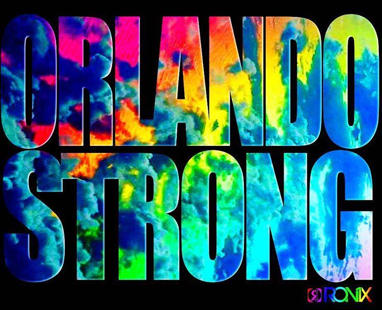 Orlando Strong! Sending love to the City Beautiful. #orlandostrong #prayfororlando #morelovelesshate #oneloveinwake