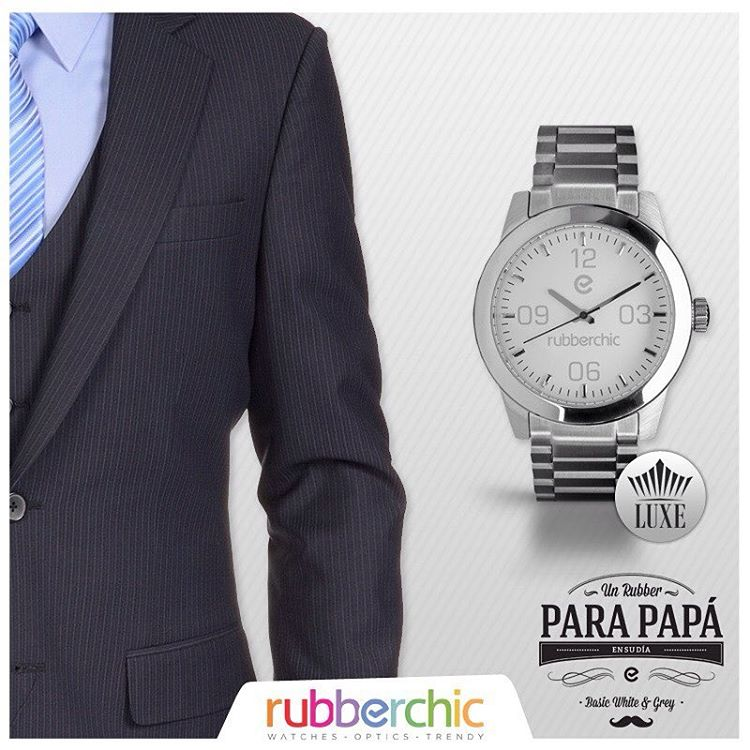 """¡Te ayudamos a elegir el mejor Rubber para Papa! - Si tu papá es """"Formal"""", comprale un Luxe Silver.  #UnRubberParaPapá #Luxe #Silver"""
