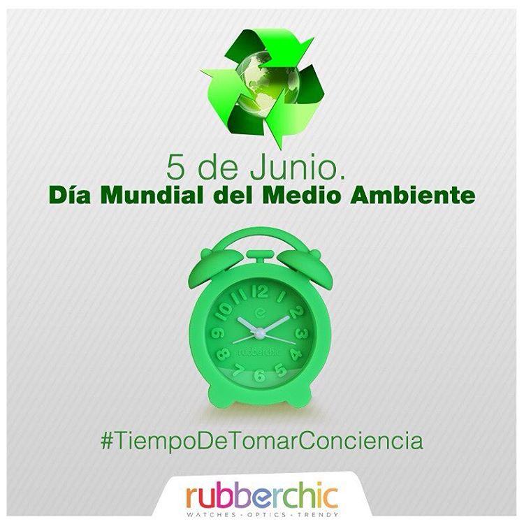 5 de Junio - Día Mundial del Medio Ambiente #TiempoDeTomarConciencia #ItsRubberTime #WakeUp #Green