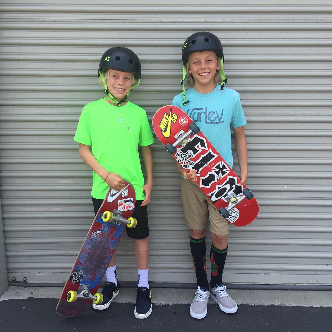 @keeganpalmer and his little bro Bryson stopped by today to pick up some S1 Lifer Helmets ! They're off to skate the vans park HB . #keeganpalmer #s1helmets #s1lifer #groms #grom The S1 Lifer Helmet is 5x more protective than traditional soft foam...