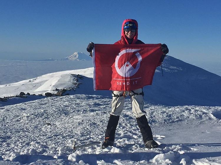So proud of our dear friend @ashwaltsf, SENDING IT big time from the summit of Mt. Rainier. Your strength and fierce commitment to never giving up is truly inspiring! #sendit #senditfoundation #fightclub #thisishowwefight