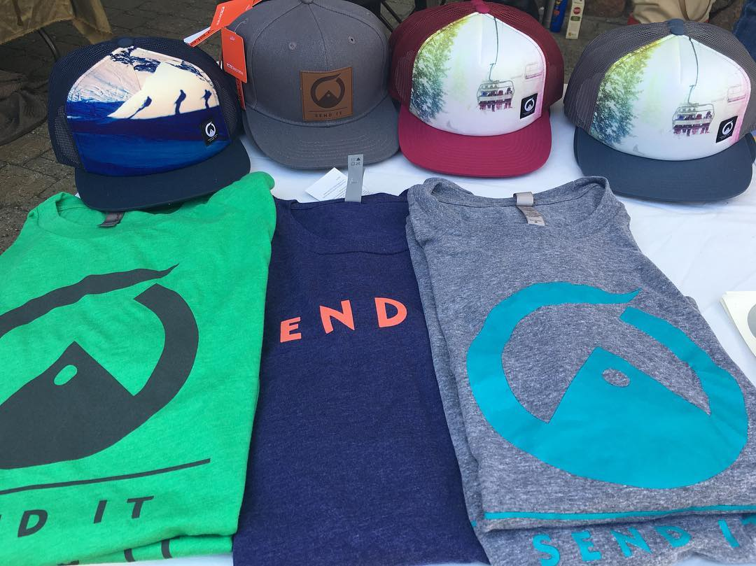It's the last weekend to ski, and the #madeintahoe festival at @squawalpine. Come visit @senditfoundation in the village! #sendit #senditfoundation #lastday #sendyfesty