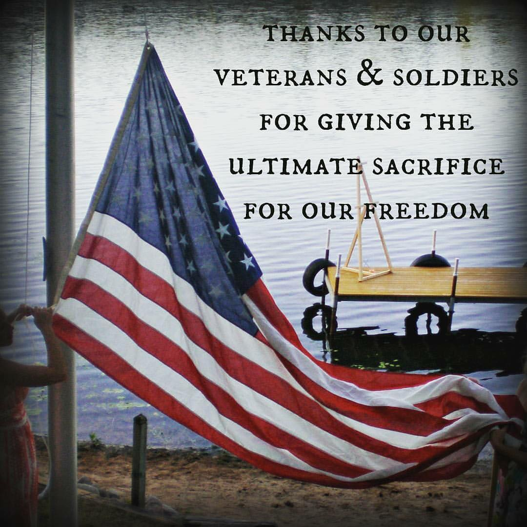 Take a moment to give thanks and remember the sacrifices others made in order for us to be free.
