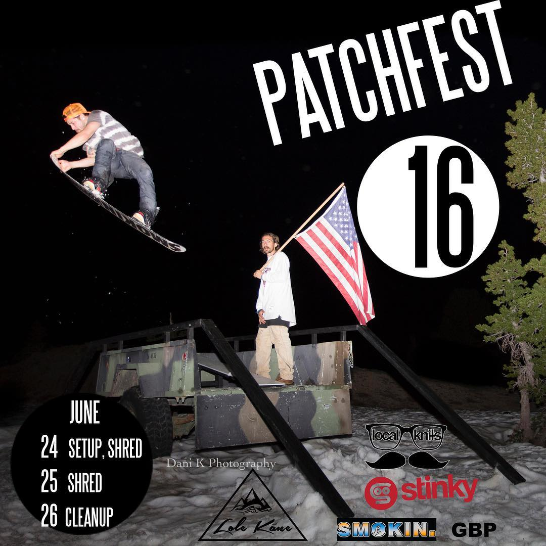 It's that time of year once again. #Patchfest has turned into such a fun event. Stay tuned for directions, it is 15 minutes before Kirkwood. We have tons of snow this year, people will be camping, shredding, partying and kickin it. Hope to see you...