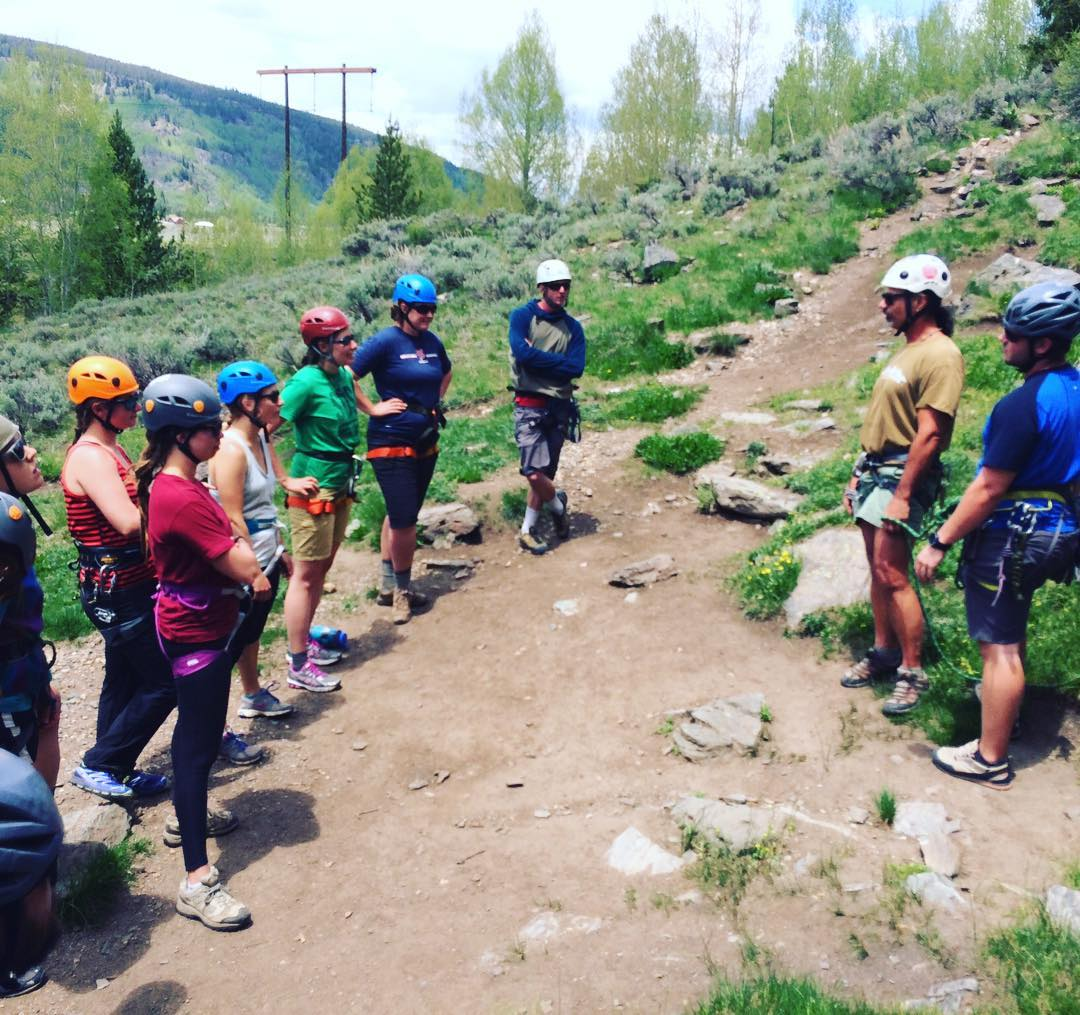 #rockclimbing & other outdoor #adventures begin next week! Much ❤️ to Uncle Joe and all our amazing #guides as the prep for summer programs