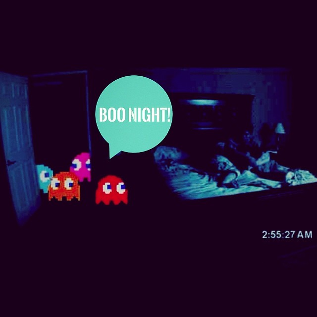 Night Time Is Ghost Time! #urbanroach #goodnight #pacman #ghost #paranormalactivity #actividadparanormal #horror #noche #fantasma