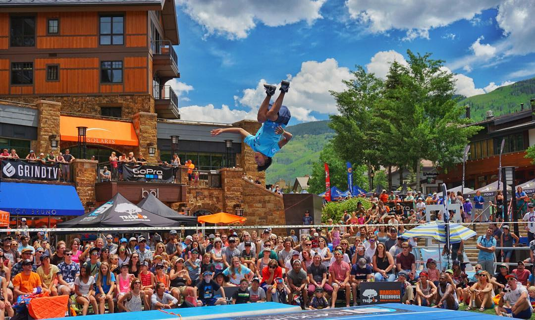 Things got pretty inverted @mountaingamesvail slack line semi finals yesterday!  Looking forward to some more madness today in @vailmtn #gopromtngames #vail #optoutside #colorado #slackline #a6000