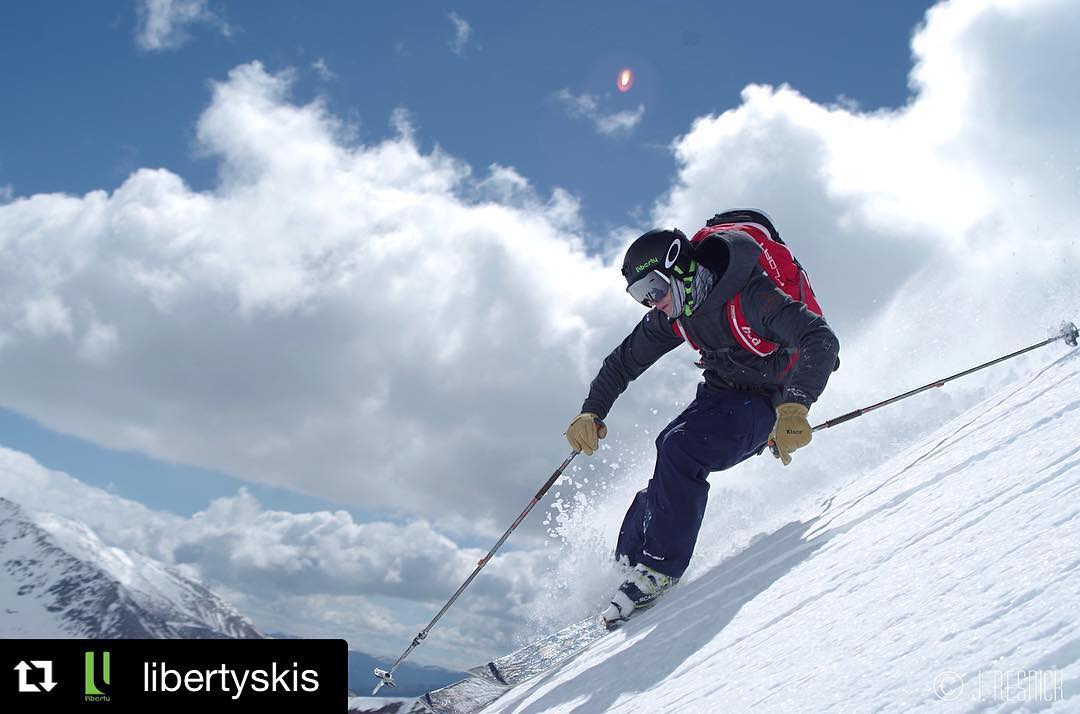 Always appreciate the love from Liberty.  Great company, athletes, and skis!  #Repost @libertyskis ・・・ @spencewhitehouse scoring some spring turns on the Indy Pass in Colorado. #earnyourturns #exploremore #colorado #spring #skiing #libertyskis