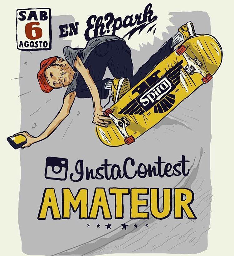 #InstaContestAmateur Round 2  El sábado 6 de Agosto se viene la segunda fecha del circuito Insta Contest Amateur en el @ehparkparadise_skatepark