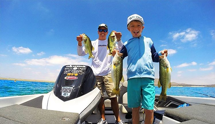 Rad-dad @toddokrine and his son celebrating #GoFishingDay and an early Father's Day. Happy (almost) Father's Day to all the rad-dads out there! #SEEHAPPY