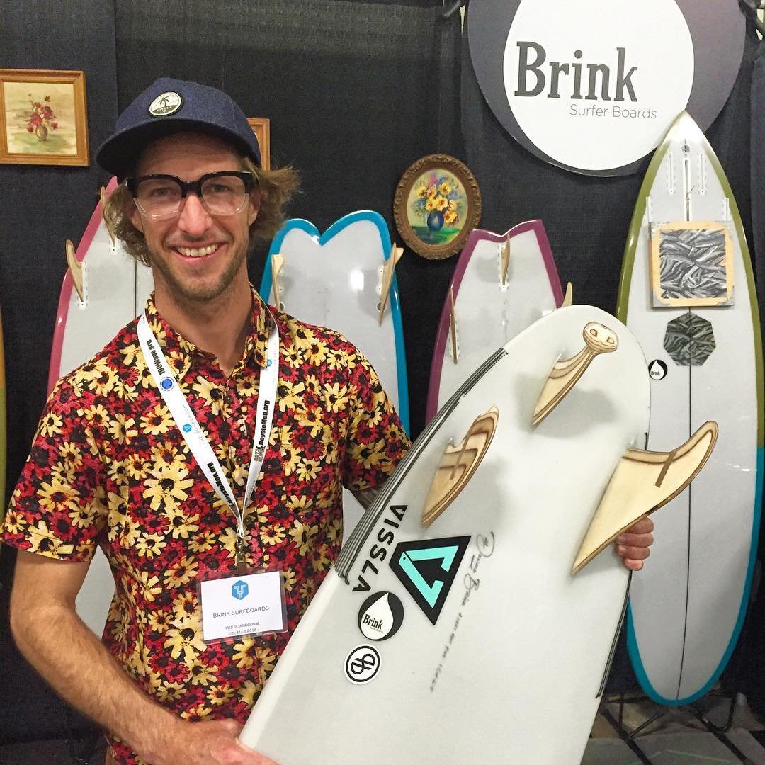 On the #BRINK of ecstasy because this straight-edged craftsman @donaldbrink (seen here at the recent @boardroomshow) is handshaping somebody at #SSurf a brand new  #ECOBOARD sled ~ with rails & tails that are anything but straight !  Donny has been...