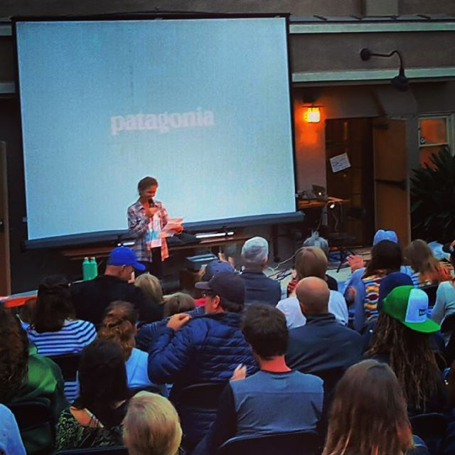 A Big #Ahoy to @captainlizclark as we all #crowd around to hear her story tonight at the @patagoniacardiff store!  Liz hardly ever comes ashore from her boat #theswell as she travels around the globe , so we wouldn't miss being here tonight to catch up...